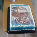 Clive Derby-Lewis turned 79 last week, in the hospital where he has spent last 9 months. He got this cake... http://t.co/UGSxol185z