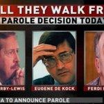 Min Masutha to announce whether Derby-Lewis, Ferdi Barnard and Eugene De Kock will get #parole | @ANN7tv DStv 405 http://t.co/gNjtTUdIDd