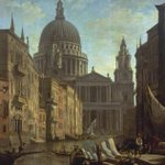 I give you an architectural fantasy - Capriccio: St Pauls and a Venetian Canal by William Marlow c.1796. #London http://t.co/XFp0EwY11i