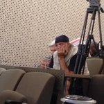 Piet Croucamp, friend of Eugene de Kock waiting for the #parole announcement. LM @SABCNewsOnline http://t.co/0TVUC2Fq5l