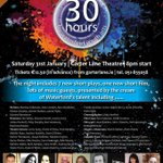 @discovwaterford Waterford Youth Arts present 30 Hours @garterlane Saturday 31st at 8 pm #lovewaterford #garterlane http://t.co/dkmXUyMMlm