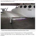 500RT:【驚いた】人工的に晴天にするサービスが開始 http://t.co/inN2vi9R4S 目標の土地上空に小型飛行機を飛ばし、雲を一つ一つ取り除いていく仕組みで、晴天を確保するというサービス。費用は1785万円。 http://t.co/HKrzTY8RbX