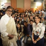 .@SrBachchan with students group no. 2 #BigBCouching http://t.co/AnLeXHVlPq