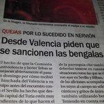 El domingo hablabamos de tonterías las medidas contra el Valencia. Hoy esto. No todas las aficiones tienen honor. http://t.co/TJ8BGQYHLF
