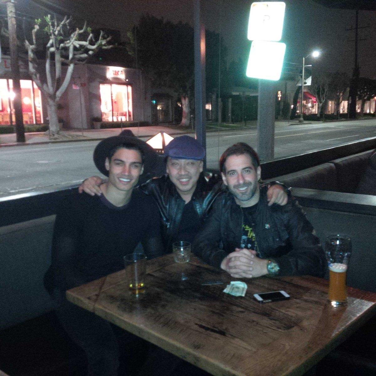 A little celebration with my dawgs @elmolovano and @SivaKaneswaran!! #notdrunk http://t.co/fsRxfBiFpn