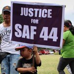 Families seek justice during the necrological services for the #SAF44. Photo by Joel Leporada/Rappler #RStream http://t.co/2snkFPGC1a