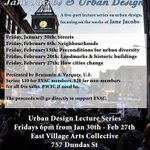 Learn about Jane Jacobs & Urban Design at @EastVillageArts. Lecture series starts tonight. #OEVldn #ldnont http://t.co/rEC9LORQ2E