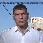 LOL! RT @damomac: When #Varoufakis met #Dijsselbloem. #Greece http://t.co/xkE8czTGEL