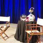 Getting ready for the coaches joint press conference. #SuperBowlXLIX #WBZ http://t.co/DXU5ChXgox