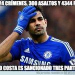 Sanción a Diego Costa de tres partidos http://t.co/b0AoKt2fIB http://t.co/3eizmHY0hc