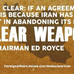 Increased sanctions on #Iran would provide more leverage, not derail #IranTalks http://t.co/RjFhsmVVi5 #NoNuclearIran http://t.co/6RBX0TlFWY
