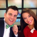 #BowTieFriday with @MalloryHBrooks and @aaronnolannews! Well miss you Greg! #GoodbyeGreg http://t.co/FfrNOaL9NQ