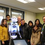 Our new MSc Marketing starters got an unusual welcome from our resident Robot... http://t.co/93dkO0HgMl
