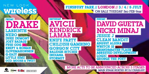 ! @Drake, co-headliners @Avicii & @KendrickLamar + @DavidGuetta & @NickiMinaj & more http://t.co/ffgESzYyMs #Wireless http://t.co/rspYWPk4qN