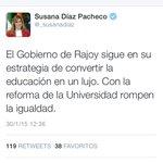 """Rajoy va a quebrar la igualdad de oportunidades y así """"solo tendrán carreras quienes tengan cartera"""" @unisevilla http://t.co/kQjSpQz73r"""