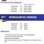 ¡Llegaron las licencias! Estos son los nuevos aranceles (Infografía) #Maracaibo #Tramites http://t.co/I2ehNKjEhH