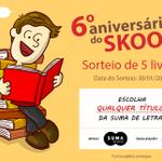 RT #AniversárioDoSkoob Concorra a 5 livros da @Suma_BR, conforme os títulos http://t.co/AfAYDn4wN0 http://t.co/Hc3G9dKdYn