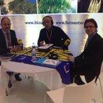 En Hxh especial FITUR ahora nos visita el alcalde de Sta Eulalia,Vicent Marí y el concejal de Turismo,Salvador Losa http://t.co/qVn5dYb69f