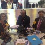 Más invitados en el estudio en FITUR de HxH.. la alcaldesa de S.Josep,Neus Marí y el concejal deTurismo,Vicent Torres http://t.co/m2OZ1vhnpF