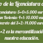 Importante: se ha aprobado el Decreto del 3+2 en el que estudiar costará 14.000 euros. #NoAl3Mas2 http://t.co/W8ryunSJFU