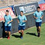 Roberto, Mark y Erick realizan trabajos regenerativos en nuestro Estadio San Carlos de Apoquindo. #LosCruzados http://t.co/l3msfWgGQ3