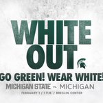 Wear white to Breslin Center on Sunday vs. Michigan to show support for your Spartans! #GoGreenWearWhite http://t.co/5uRidWltrN