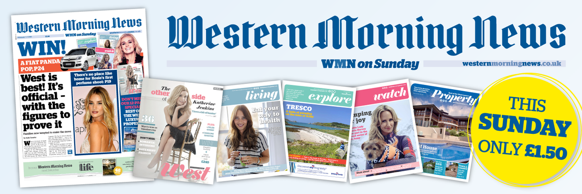 This Sunday don't miss the new-look Western Morning News on Sunday… And see the new TV ad here http://t.co/NiRimHqQ3D http://t.co/DG3WDxfgoX