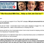 """Apparently, the Conservative @ActionFund """"knocked Mitt out"""" & if you give them $25 or $50, theyll do the same to Jeb http://t.co/eiJVLGIGQZ"""