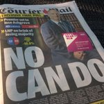 Front Page @couriermail on Queensland Election Day 2015 #qldvotes #sun7 http://t.co/YYR9EN2d43