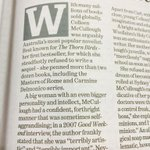 Oh good. The @smh managed to wait til the second paragraph before calling Colleen McCullough big. http://t.co/3dVX13RuVC