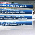 Chicago Weather: 3-6 inches of snow likely this weekend http://t.co/CQhcCRcomA http://t.co/7p1WQu4hi0