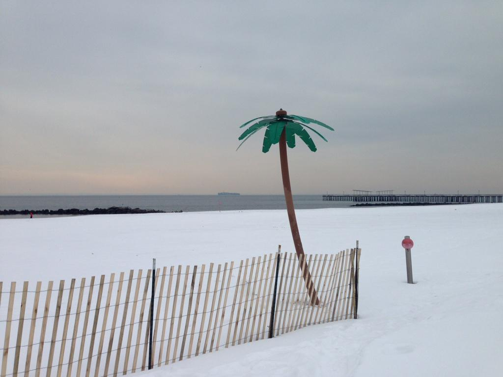 It's always summer in #ConeyIsland. Except for today. Today, it's freakin' freezing. http://t.co/7K23XORjGc