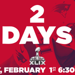 2 days, 5 hours, 50 minutes to be exact! RT @nfl: 2 DAYS!! #SB49 http://t.co/YOVJUWABqy