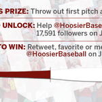 HALFWAY THERE!  Todays goal: 17,591 followers  Todays prize: Throw out the first pitch at a game TBD! http://t.co/yxXl9rOdOe