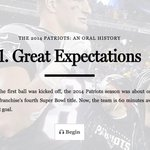 .@cgasper, Tom Brady, and other voices provide the oral history of the 2014 #Patriots: http://t.co/Fxq4zOeKeM