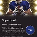 . @CoventryUpdate @CoventryJets @RicohArena @AllezWasps @WaspsRugby join us for the Superbowl this Sunday! http://t.co/I95CpUykwV