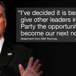 BREAKING: @MittRomney will not pursue a third run for the @WhiteHouse in 2016. http://t.co/1VCFjzR455 http://t.co/iu2stFCObW