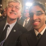 With @NIHDirector Collins in the East Room awaiting President Obamas announcement re #PrecisionMedicine. http://t.co/cuC0eL456z