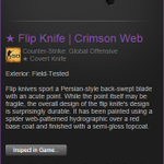 #Giveaway time! Follow +RT for your chance to win the ★ Flip Knife | Crimson Web. Winner chosen in 24 hours. #csgo http://t.co/qNZ4k1rDWO