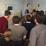 Choosing topics for Lean Coffee, discussing Agile, Scrum and UX topics in our workshop today http://t.co/fMW8889mzA