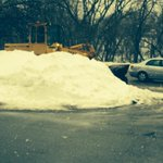 Crews are out widening the roads - via snowbank removal! #Blizzard2015 #Boston http://t.co/oFKhnsL8yz