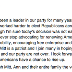 """.@JebBush on Romney deciding against WH run: """"I'm sure today's decision was not easy."""" http://t.co/1KuluEmiQl http://t.co/z5GelHNUCf"""