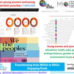 RT @ravikarkara: Young women/men put edn, heath, jobs, governance, ending violence, gender equality  environment issues #youth2015 http://t…