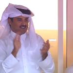 فرحة أمير دولة قطر الشيخ تميم بن حمد آل ثاني بعد تأهل العنابي للدور النهائي. #LiveitWinit http://t.co/jLFZLtJBmE