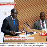 Watch AU Chairperson President Mugabes address at the AU summit on ZTV @ 2100HRS tonight. http://t.co/APL7YbaWcb