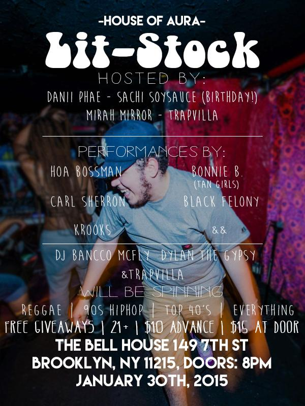Tonight! Come party! LIT STOCK by @houseofaura w/ @HOA_Bossman @BlackFelony @BONNiE__B Tix: http://t.co/zF4yrK2QiJ http://t.co/6SQ1FQopM0