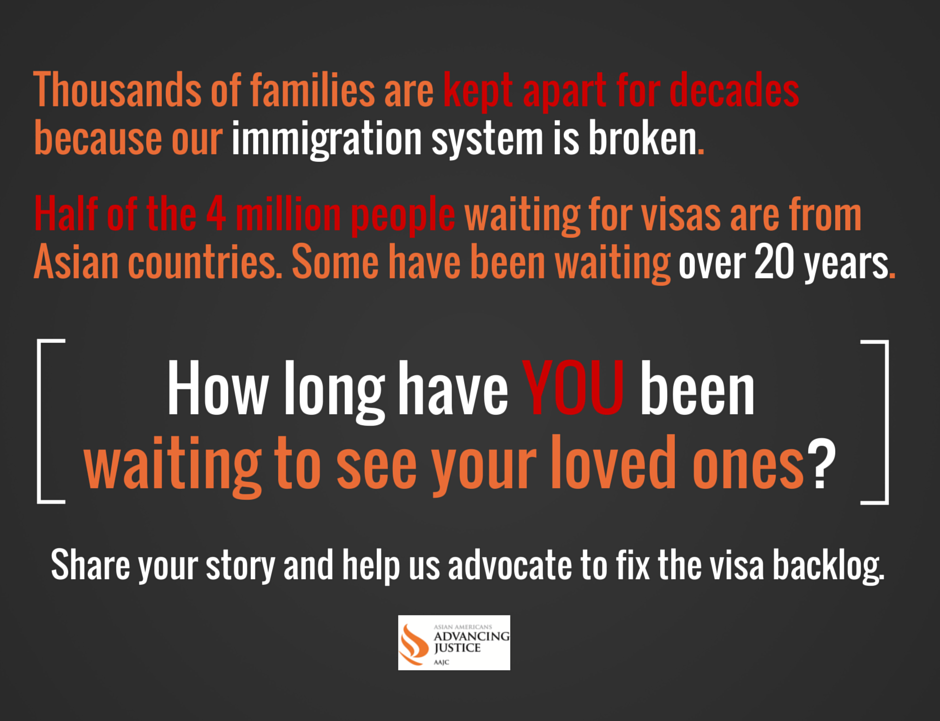 The legal #immigration system is severely backlogged. How long have you waited to see your loved ones? #H4EAD #DACA http://t.co/U27F65um75