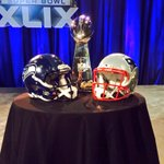 The #lombarditrophy is here for the @nfl commissioner #RogerGoodell press conf. #SB49 #fox10sports #fox10phoenix http://t.co/Q7MJsl541e