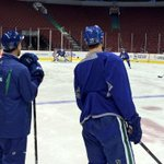 Optional #Canucks skate this morning. Eleven players present and Lack. And @mammamialack in the stands. http://t.co/KbhLF98w6I