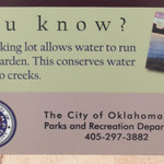 Checked out the construction at @OKCParks Memorial Park - lo and behold, water conserving green infrastructure! http://t.co/kMckKfPmvY